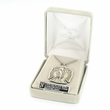"""Sterling Silver Shield St. Michael Medal, Patron of Police Officers on 20"""" Chain"""