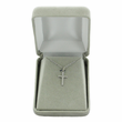 Sterling Silver Small Polished Cross on 16 Inch Chain
