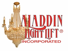 "<b>Aladdin Light Lift</b></br><u><font color=""blue"">Chandelier Lift System</font></u>"