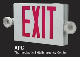 ALL PRO APC7 COMBO UNIT EXIT SIGN & EMERGENCY LIGHT