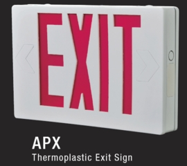 ALL PRO APX7 LED EXIT SIGN