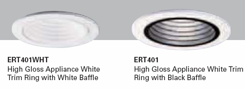All Pro Ert401 4 Quot Line Voltage Step Baffle Trim