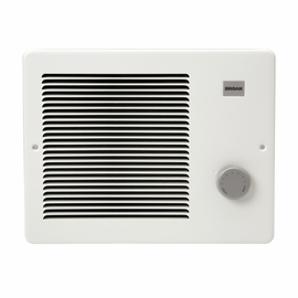 Broan 170 Wall Heater, White, 500/1000W 120VAC, 750W 208VAC, 1000W 240 VAC.