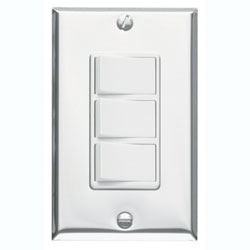 Broan 67 Three-Function Control with Chrome Finish Metal Wall Plate