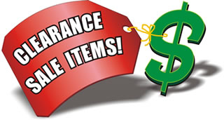 CLEARANCE SALE & SPECIAL OFFER!