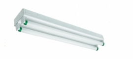 "Cyber Tech ST48232-LED 48"" Retrofitted Double Strip Light w/ 2 - 19.7W T-8 LED Lamps 120-277V"