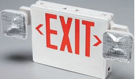 Day-Brite VC Combination Emergency Exit Sign and Light with Battery Backup