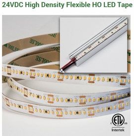 GM Lighting HDT-28024-HO-30 LEDTask 24VDC High Density High Output Flexible LED Tape,5.8W/ft, 24VDC,3000K,16.4ft/5M