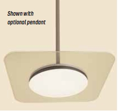 "GM Lighting SCT12-STEM-18W 12"" Pendant Stem with 5-1/4""Dia X 1"" D Canopy for 18W ClearTask"