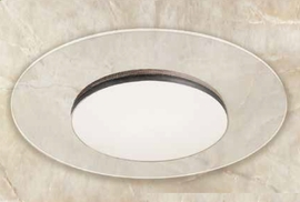 "GM Lighting SCT18-40-R-WH Round ClearTask LED Down & Uplight 18W,120V,4000K,17100Lum, 14-1/2"" Dia"