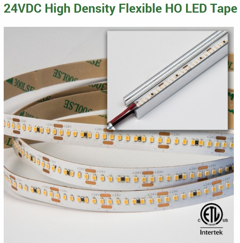 GM Ligthing HDT High Density Flexible HO LED Tape, 24Volt,5.8Watt/Per/ft