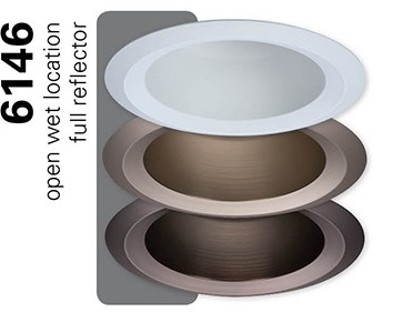 Halo 6146wh 6 Quot Open Wet Location Shallow Reflector Trim