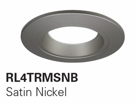 "HALO RL4TRM-SNB  4"" Designer Baffle Trims Accessories for RL460 (Satin Nickel Trim)"