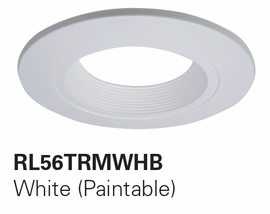 "HALO RL56TRM-WHB 5""/6"" Designer Baffle TrimsAccessories for RL560 (White,Paintable Trim)"