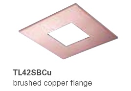 HALO TL42BCU 2�  Square Open  Brushed Copper  (Use with ML4 LED)
