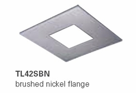HALO TL42SBN 2�  Square Open Brushed Nickel  (Use with ML4 LED)