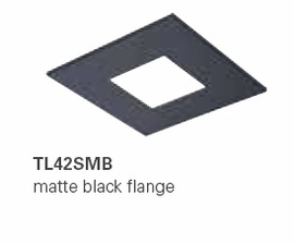 HALO TL42SMB 2� Square Open Matte Black  (Use with ML4 LED)