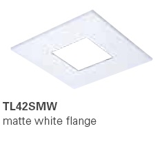 HALO TL42SMW 2� Square Open Pinhole Matte White  (Use with ML4 LED)