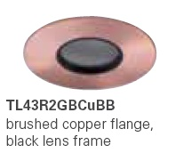 HALO TL43R2GBCUBB 2� Round Lens Pinhole Brushed Copper,Black Lens Frame (Use with ML4 LED)