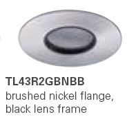 HALO TL43R2GBNBB 2� Round Lens Pinhole Brushed Nickel,Black Lens Frame (Use with ML4 LED)