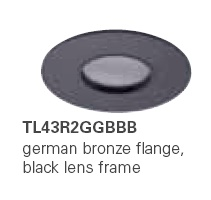 HALO TL43R2GGBBB 2� Round Lens Pinhole German Bronze,Black Lens Frame  (Use with ML4 LED)