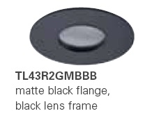HALO TL43R2GMBBB 2� Round Lens Pinhole Matte Black,Black Lens Frame (Use with ML4 LED)