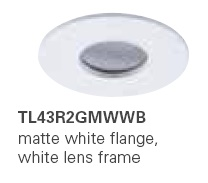 HALO TL43R2GMWWB 2� Round Lens Pinhole Matte White,White Lens Frame (Use with ML4 LED)