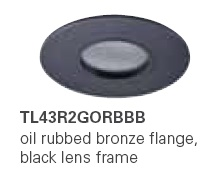 HALO TL43R2GORBBB 2� Round Lens Pinhole Oil Rubbed Bronze,Black Lens Frame (Use with ML4 LED)