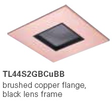 HALO TL44S2GBCUBB 2� Square Lens Pinhole  Brushed Copper,Black Lens Frame (Use with ML4 LED)