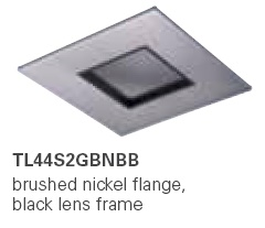 HALO TL44S2GBNBB 2� Square Lens Pinhole  Pinhole Brushed Nickel,Black Lens Frame (Use with ML4 LED)