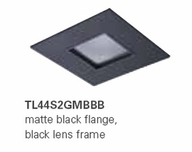 HALO TL44S2GMBBB 2� Square Lens Pinhole  Matte Black,Black Lens Frame (Use with ML4 LED)