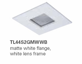 HALO TL44S2GMWWB 2� Square Lens Pinhole Matte White,White Lens Frame (Use with ML4 LED)