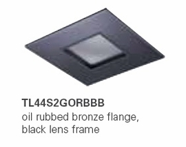 HALO TL44S2GORBBB 2� Square Lens Pinhole Oil Rubbed Bronze,Black Lens Frame (Use with ML4 LED)
