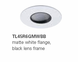 "HALO TL45R6GMWBB 2"" Round Lens Wall Wash Pinhole"