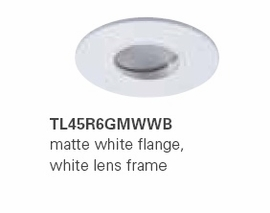 "HALO TL45R6GMWWB 2"" Round Lens Wall Wash Pinhole Matte White,White Lens Frame (Use with ML4 LED)"