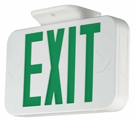 Hubbell CEG Thermoplastic Exit sign, Green Letters, Universal Face with NiCad battery