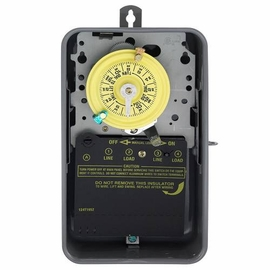 INTERMATIC T104 24Hr Indoor Mechanical Timer, 277 Volt Time Switch Double-Pole
