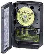 INTERMATIC T104R 24Hr Outdoor Mechanical Timer, 277 Volt Time Switch Double-Pole