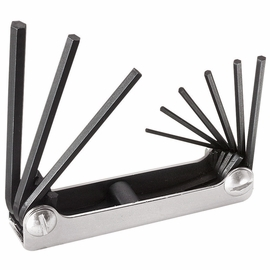 Klein Tools 70591 Nine-Key Inch Folding Hex Key Set