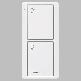 Lutron RadioRA 2 Select PJ2-2B-GWH-P01 RA2 Select 2-Botton Entry Scene Keypad