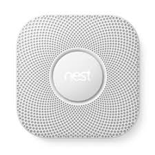 Nest S3005PWLUS Nest Smoke and Carbon Monoxide 2nd Generation Pro,Line Volt, White