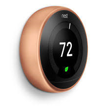 Nets T3021US Nest Learing Thermostat 3rd Generation Copper