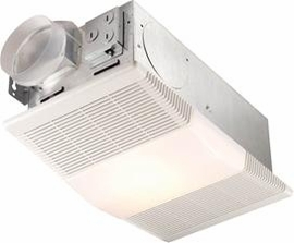 NuTone 665RP Heater/Fan/Light, 1300W Heater, with 100W Incandescent Light, 70 CFM; Ventilation Fans