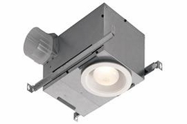NuTone 744NT 70 CFM Recessed Fan/Light, with White trim