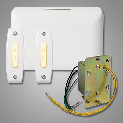 NUTONE BK142LWH Junction Box One 2-note, white door chime