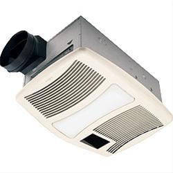 NuTone QTXN110HFLT Heater/Fan/Light/Nightlight, 1500W Heater, with 36W Fluorescent Light and 7W Nightlight, 110 CFM; Ventilation Fans