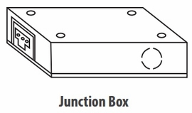 Rayon Lighting RULA-JB-B LED Undercabinet Junction Box Black