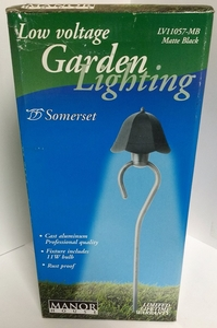 RWES LV11057MB(MATTE BLACK) LOW VOLTAGE GARDEN LIGHTING - SOMERSET
