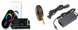 RWES RF5050060-24RGBD 12Ft RGB Light LED Tape Kit (Indoor)24VDC,Plug-In Power Supplies & LED Controller