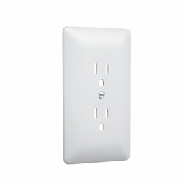 TayMac 2000W Masque Grounded Duplex 1-Gang Wall Plate